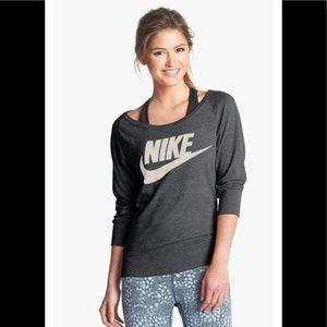 Nike gym vintage tee gray 3/4 sleeve Sz XL